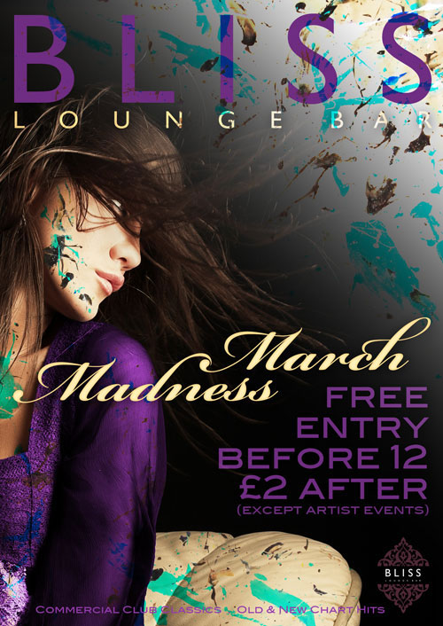 Flyer design for Bliss Lounge Bar | GRAPHIC DESIGN