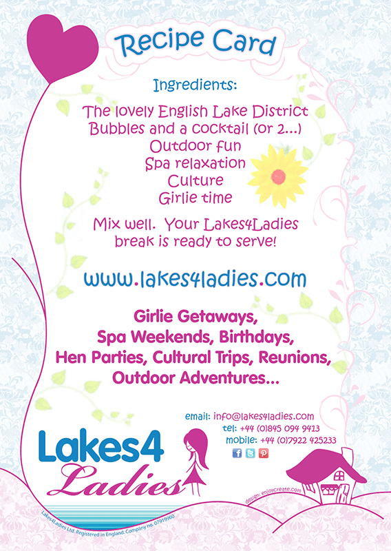 Postcard design for Lakes4Ladies | GRAPHIC DESIGN