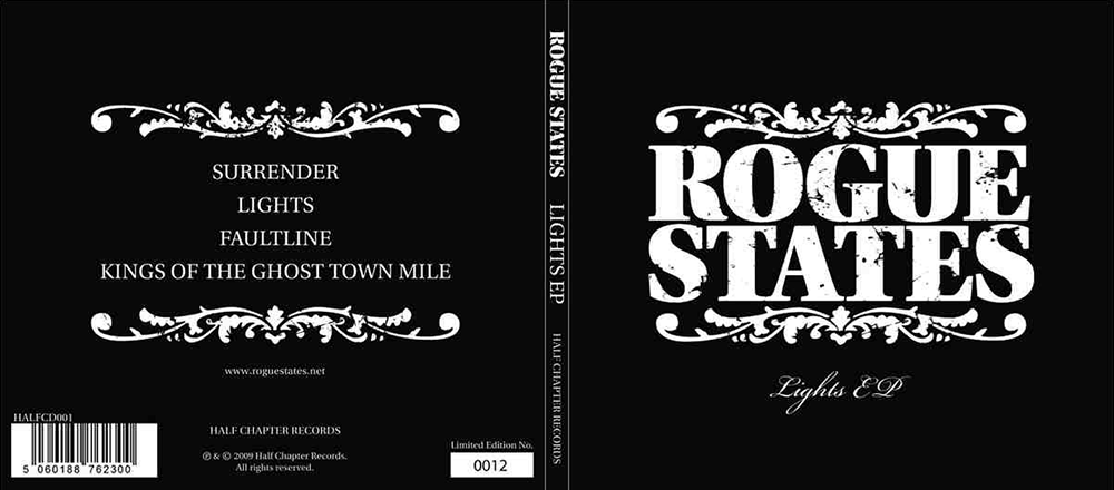 CD cover design for Rogue States | GRAPHIC DESIGN