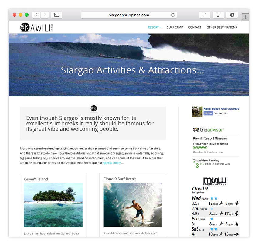 Kawili Resort | RESPONSIVE WEB DESIGN | CMS