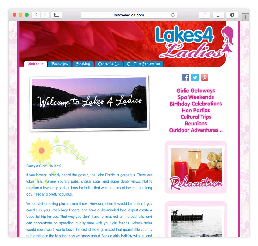 Lakes4Ladies | WEB DESIGN | CMS