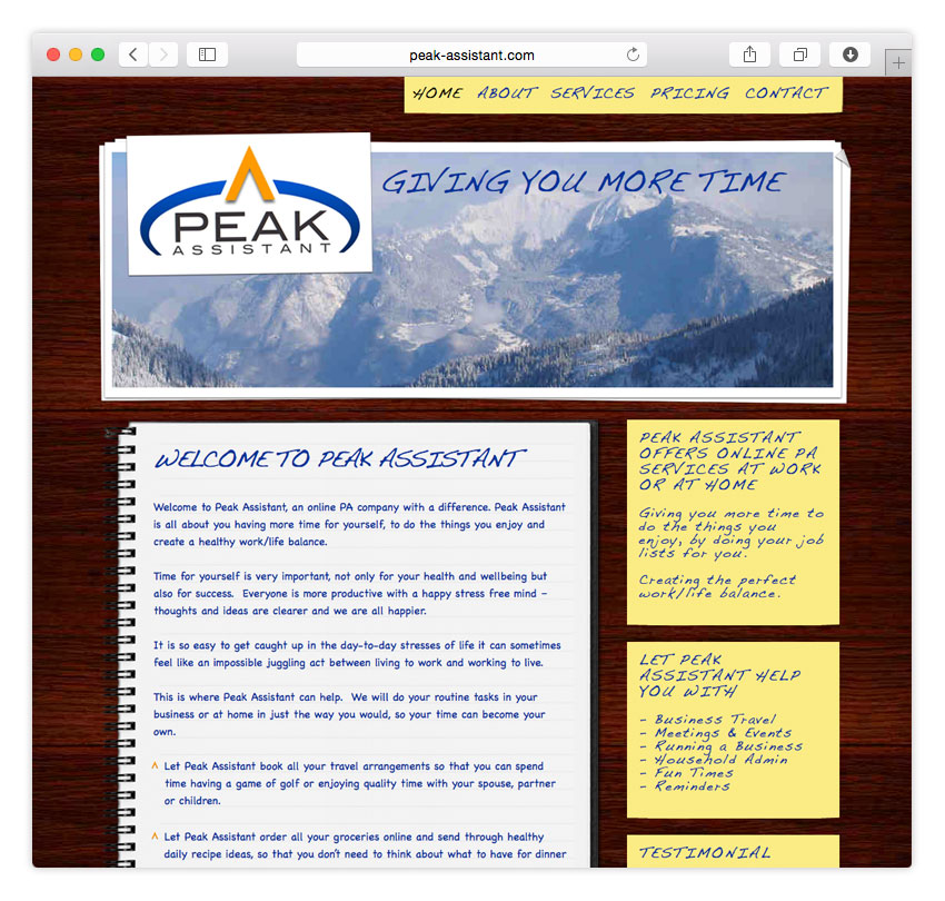 Peak Assistant | WEB DESIGN | CMS
