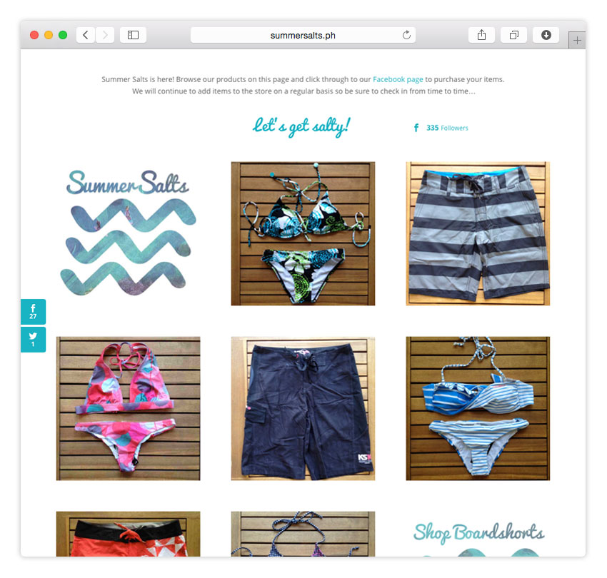 Summer Salts Surf Shop | RESPONSIVE WEB DESIGN | ECOMMERCE | CMS