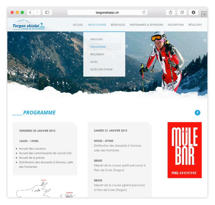 Torgon Skialpi | RESPONSIVE WEB DESIGN | CMS